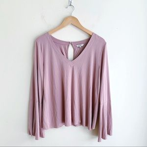 Lucky Brand Blush Bell Sleeve Top